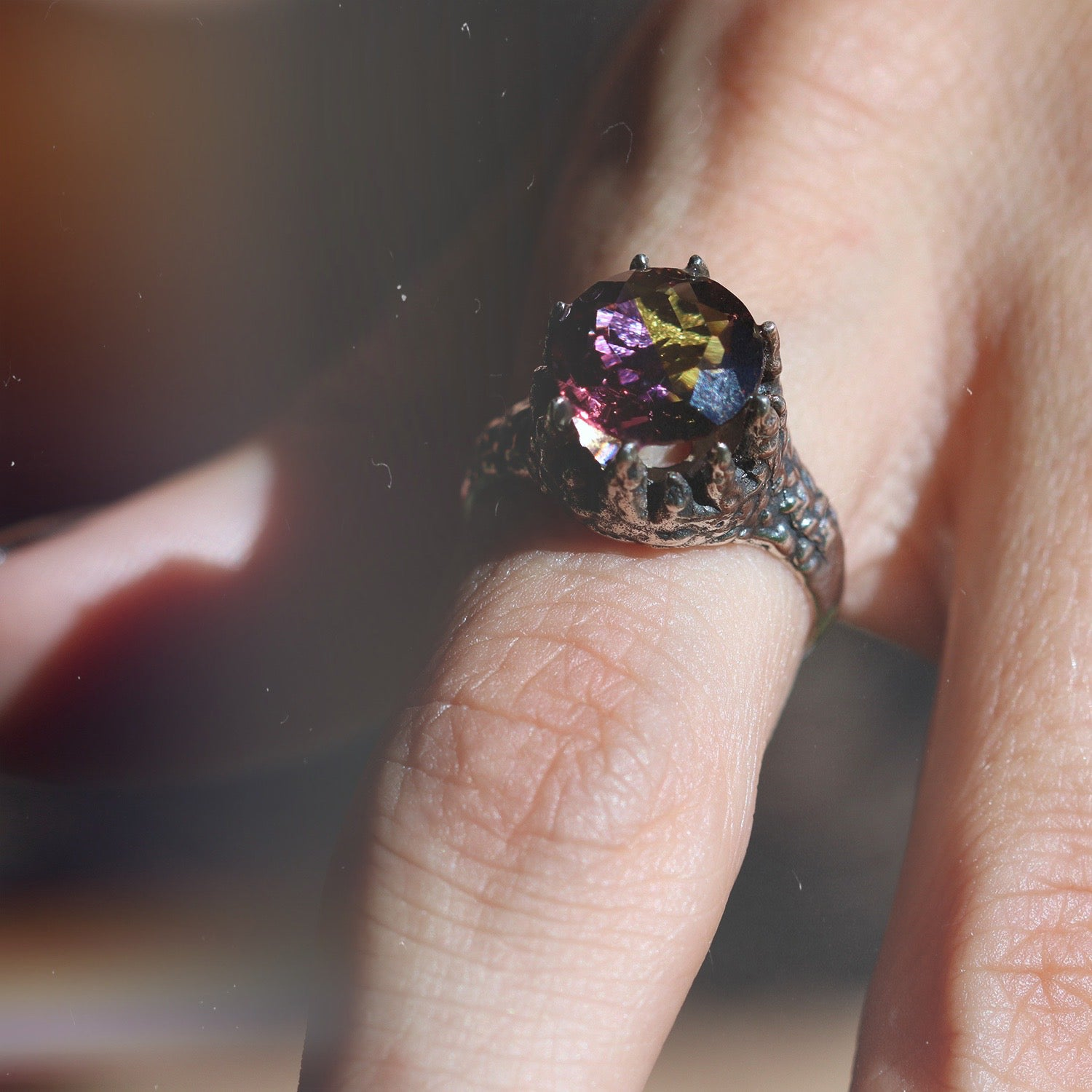 Sedum Spurium Icicle Ametrine Sterling Silver Ring