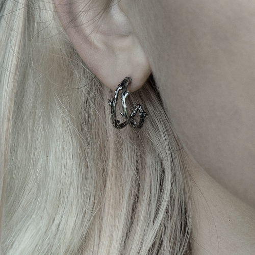 Serein Gothic Thorn Hoop Earrings