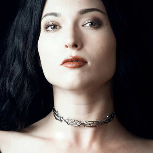 Enchanted Forest Double Gothic Thorn Choker