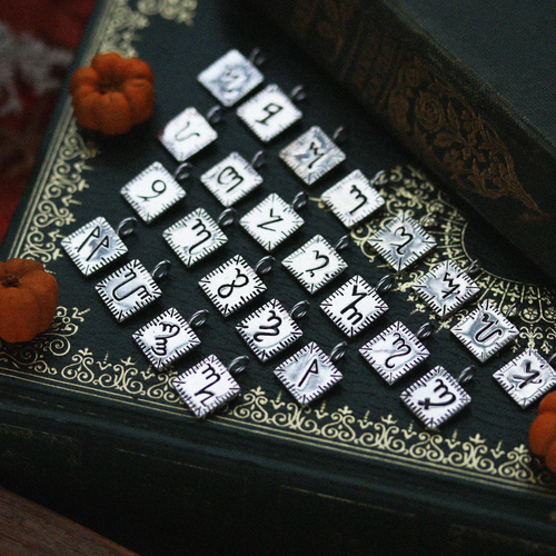 The Witches Alphabet Initial Necklace | Harmony Nice X Dixi