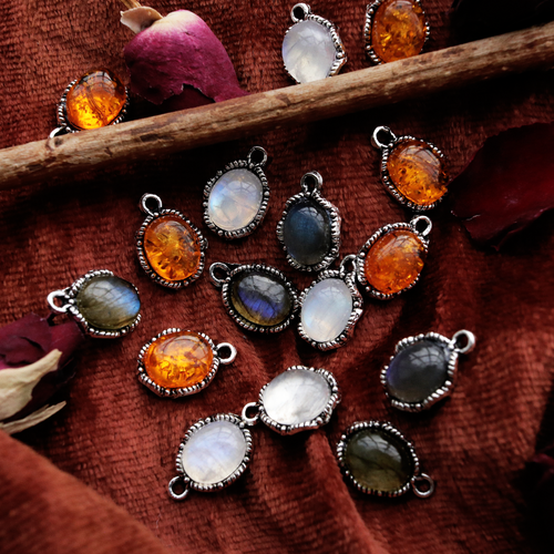 Bramble Autumn Stone Silver Necklace *Style Select