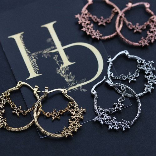 AVAILABLE NOW | Willow Magick Pentagram Hoop Earrings | Harmony Nice X Dixi *Colour Selection