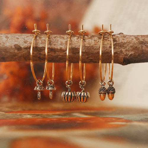 Autumn Woodlands Pumpkin / Acorn / Toadstool Hoops