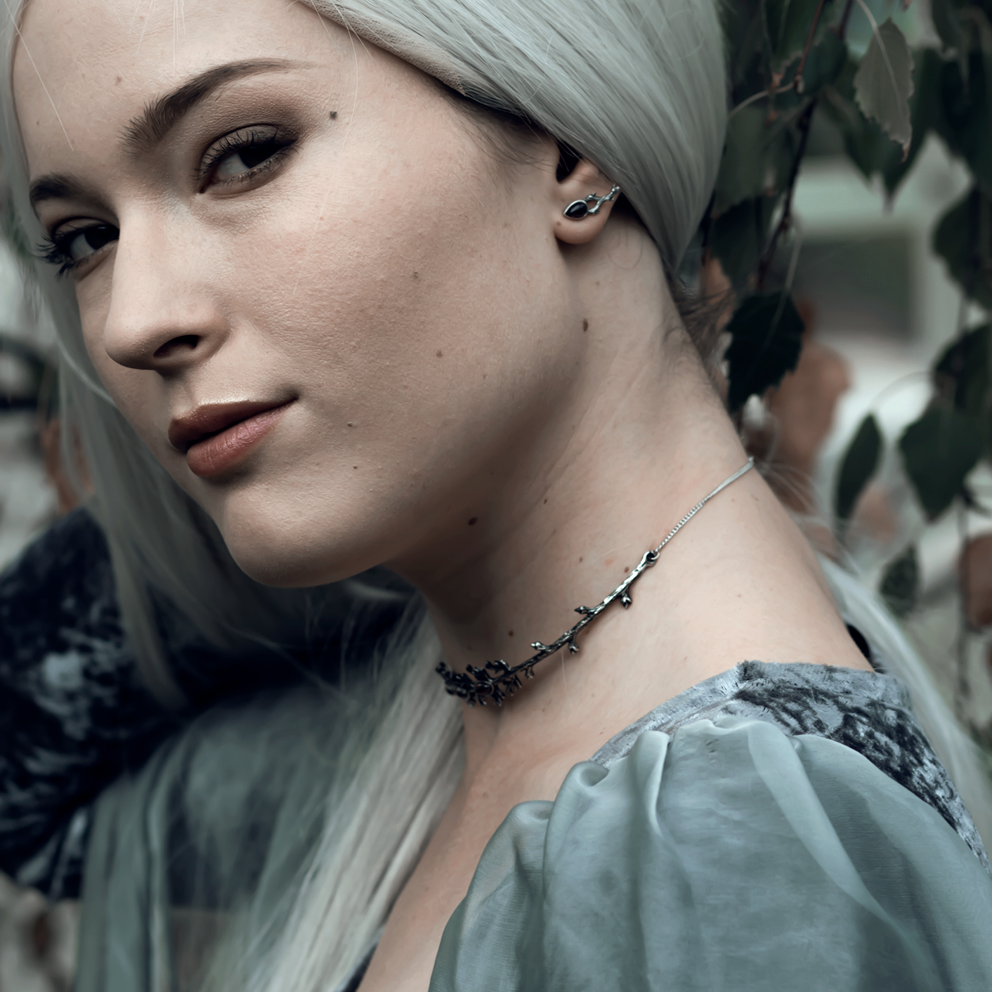 Druantia Queen of the Druids Gothic Branch Choker Mystic