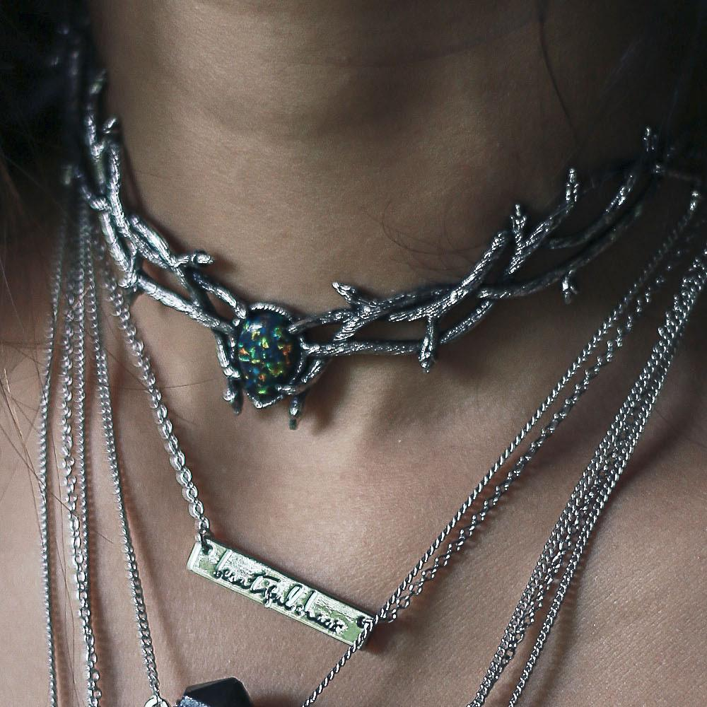 Skadi Goddess Of Winter Thorn Choker Black