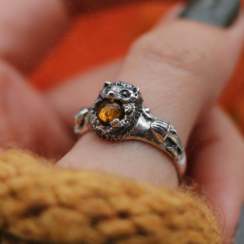 LOW IN STOCK Autumn Forest Hedgehog Ring | Talent Scout Winner