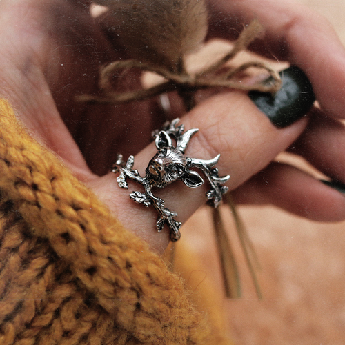 Forest Spirit Deer Head Boho Ring | Talent Scout Winner