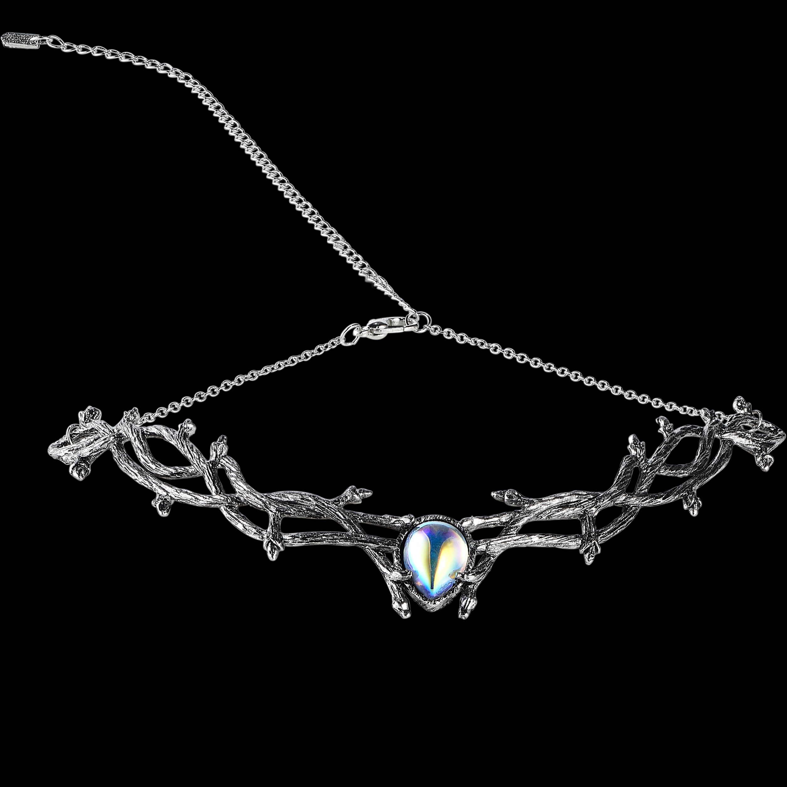 Skadi Goddess Of Winter Thorn Choker Mystic Opal