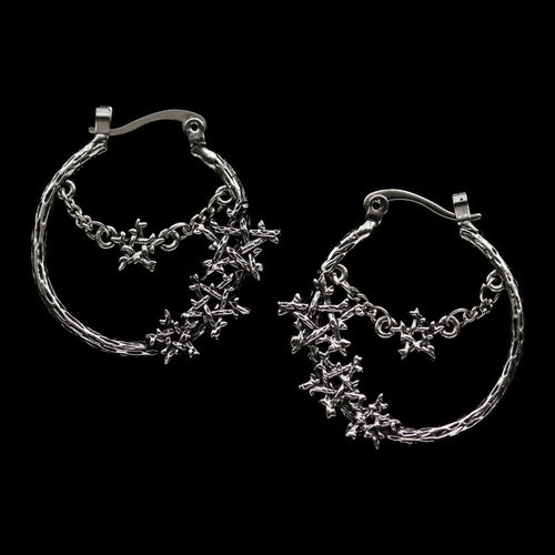 BACK SOON Willow Magick Pentagram Hoop Earrings | Harmony Nice X Dixi *Colour Selection