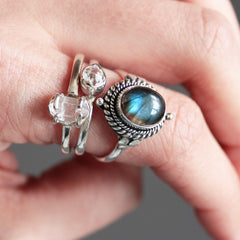 VOTE TO RESTOCK | Night Wall Fiery Labradorite Ring