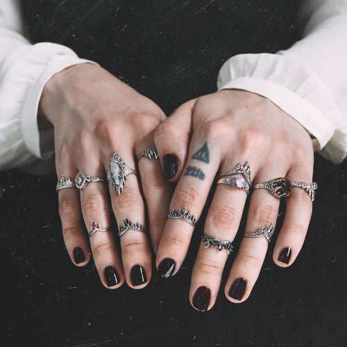 EXCLUDED | Before The Dawn Fire & Ice Wishbone Ring *Midi or Regular