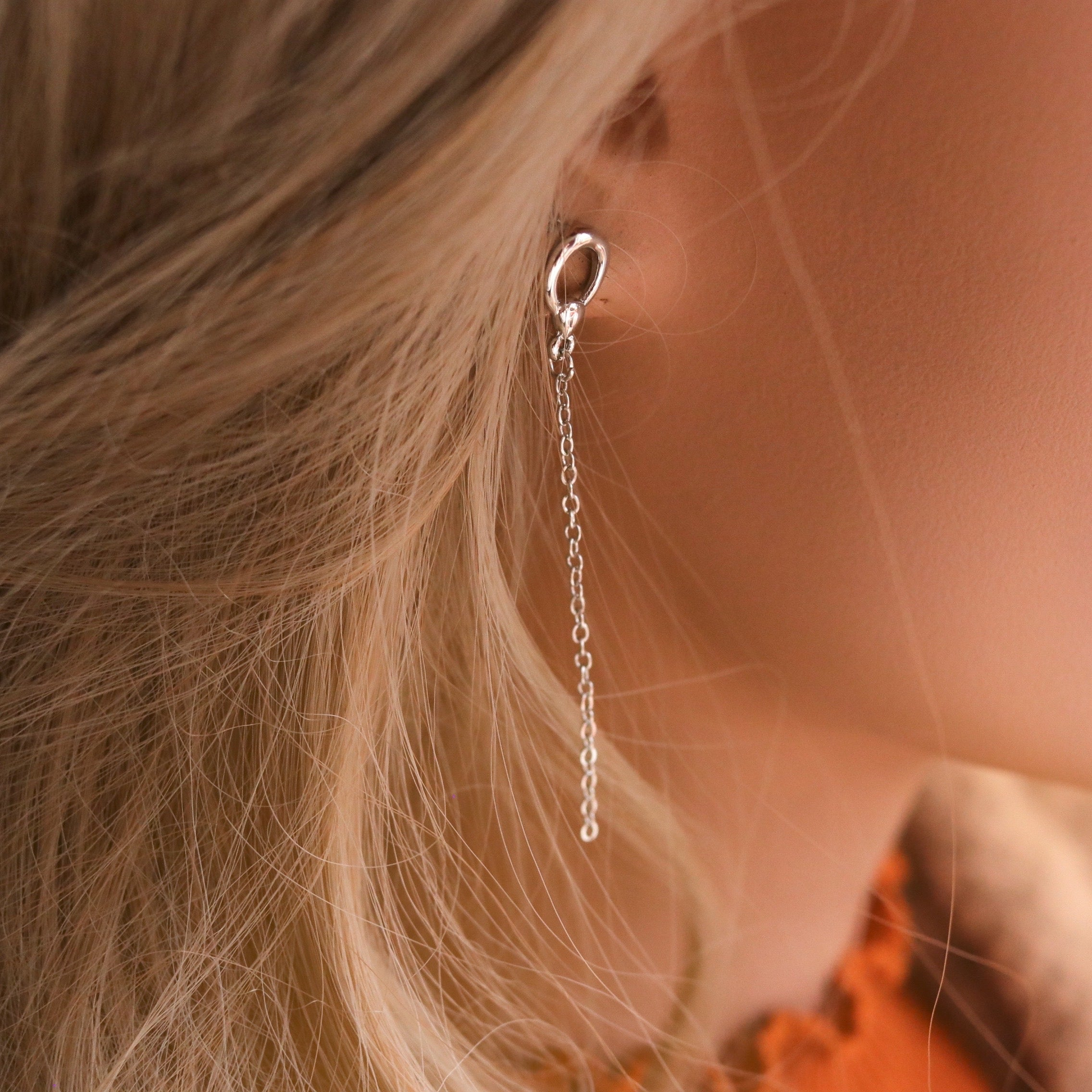 Sigurd Drop Earrings Silver