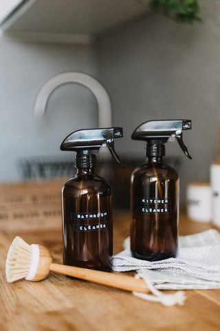 Zero waste kitchen and bathroom spray cleaner