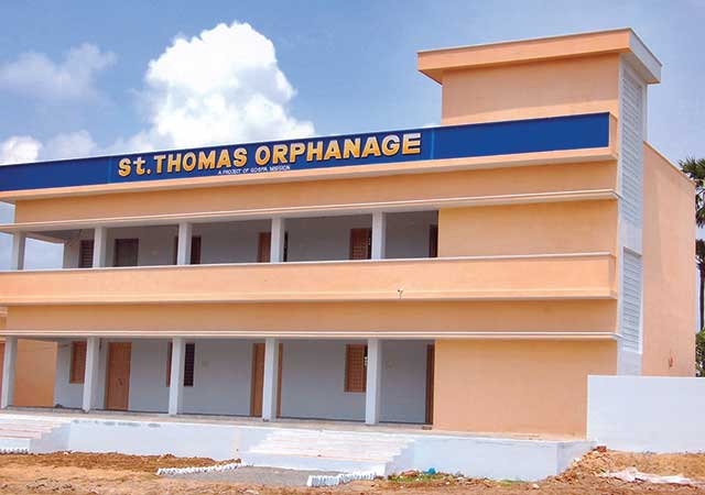 A picutre of the St Thomas Orphanage in India
