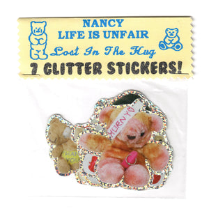 LIU X Nancy Teddies Glitter Sticker Pack