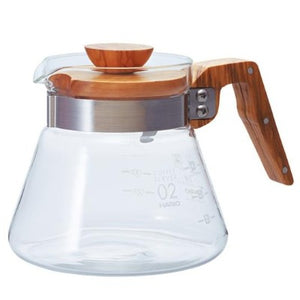 Hario V60 Coffee Server 02 Olive Wood 600ml