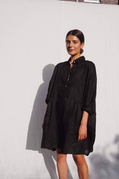 Byron Black Oversized Shirt - Ellis - Elka