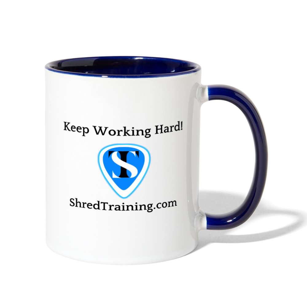 Shredders Coffee Mug - white/cobalt blue