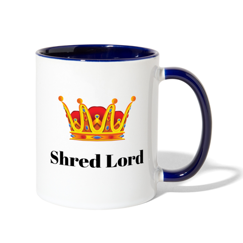 Shred Lord Coffee Mug - white/cobalt blue