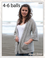Load image into Gallery viewer, Patterns for alpaca boucle knitting yarn