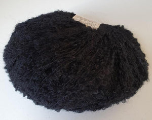 baby alpaca boucle knitting yarn black