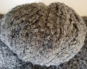 baby alpaca boucle knitting yarn charcoal