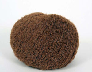 baby alpaca boucle knitting yarn cinnamon