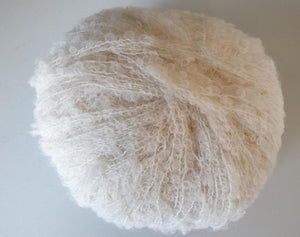 baby alpaca boucle knitting yarn cream