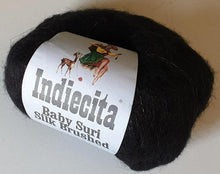 Load image into Gallery viewer, Suri alpaca silk yarn black