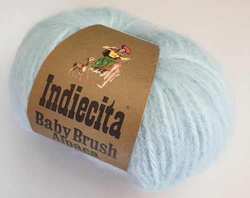 Alpaca 14ply brushed duck egg blue