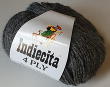 Load image into Gallery viewer, Alpaca 4ply Charcoal