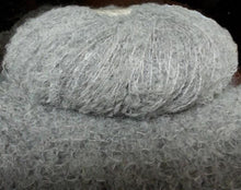Load image into Gallery viewer, baby alpaca boucle knitting yarn silver
