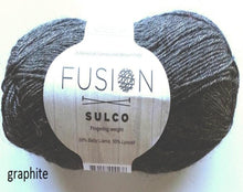 Load image into Gallery viewer, Sulco fusion llama yarn graphite