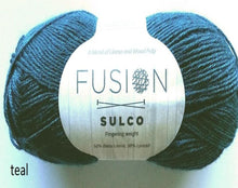 Load image into Gallery viewer, Sulco fusion llama yarn teal