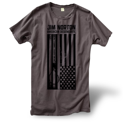 Women's Distressed American Degenerate T-Shirt (with noose)