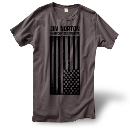 Women's Distressed American Degenerate T-Shirt (no noose)