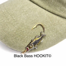 Load image into Gallery viewer, BLACK BASS FISH HOOKIT© Hat Hook