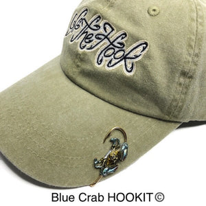 BLUE CRAB HOOKIT© Hat Hook - Fishing Hat Clip - Hat Pin