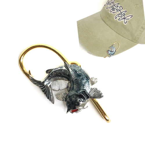 BLUE CATFISH HOOKIT© Hat Hook - Fishing Hat Clip