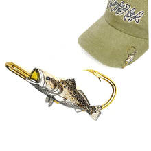 Load image into Gallery viewer, YELLOW MOUTH SPECKLE TROUT HOOKIT© Hat Hook - Fishing Hat Clip