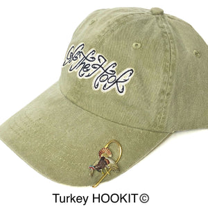 Turkey HOOKIT© Hat Hook - Hunting - Fishing Hat Clip - Brim Clip - Money Clip