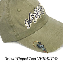 Load image into Gallery viewer, GREEN WINGED TEAL HOOKIT© Hat Hook - Fishing Hat Clip