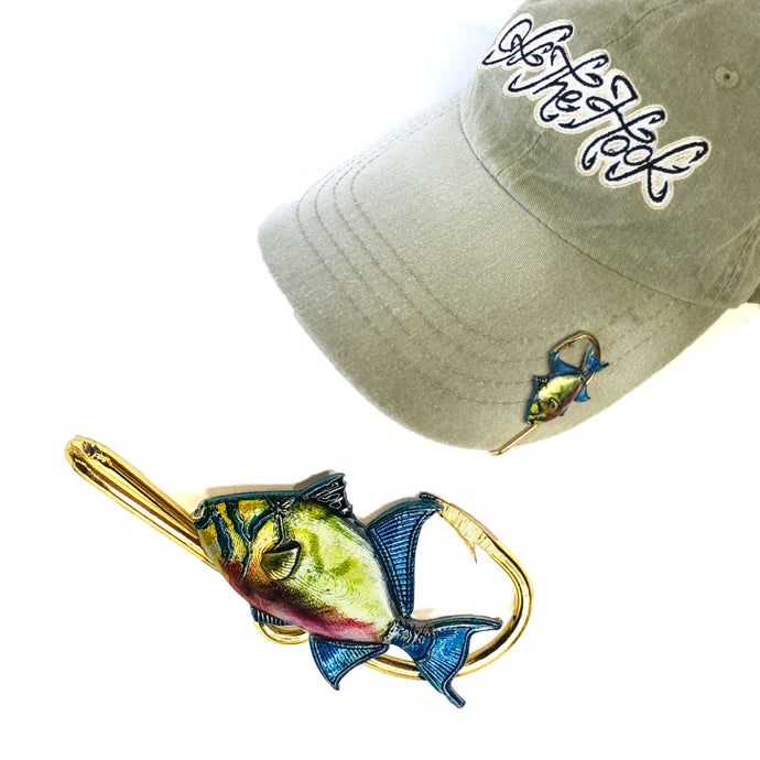 QUEEN TRIGGERFISH HOOKIT© Hat Hook - Fishing Hat Clip
