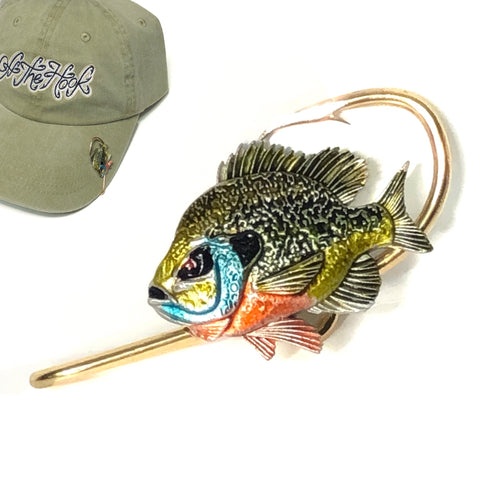 BLUEGILL FISH HOOKIT© Hat Hook - - Fishing Hat Clip