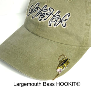 LARGEMOUTH BASS HOOKIT© Hat Hook - Fishing Hat Clip