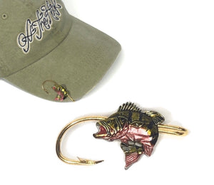 PEACOCK BASS HOOKIT© Hat Hook - Fishing Hat Clip - Purse Clip