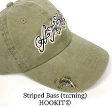 Load image into Gallery viewer, STRIPED BASS HOOKIT© (Turning) Hat Hook - Fishing Hat Clip
