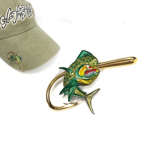 MAHI MAHI (turning) HOOKIT© Hat Hook - Fishing Hat Clip