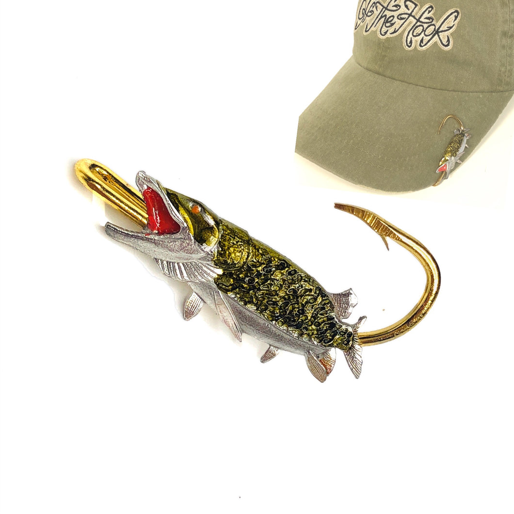 MUSKIE HOOKIT© Hat Hook - Fishing Hat Clip