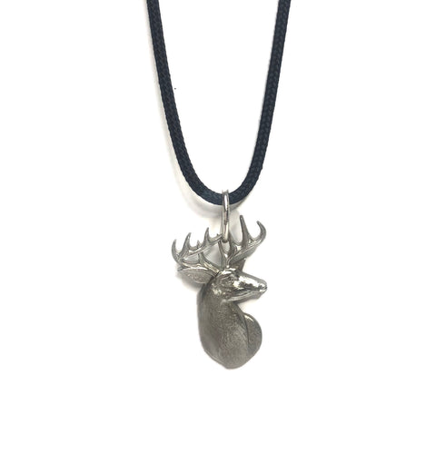 DEER HEAD PENDENT - White Tail Deer Necklace - Stag Head